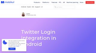 Twitter Login integration in Android - Mobikul