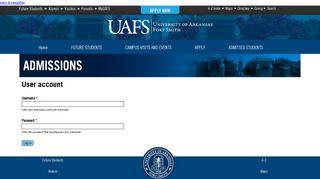 User account | admissions.uafs.edu