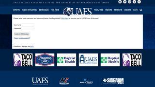 UAFS Lions All-Access Login - Arkansas-Fort Smith