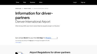 Instructions For Drivers At Denver International (DEN) Airport | Uber