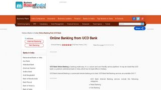 Online Banking from UCO Bank - Business Maps of India