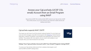How to access your Cgl.ucsf.edu (UCSF CGL email) email account ...