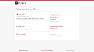 Online Application Menu - ApplyWeb