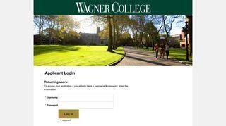 Wagner College Application - Login