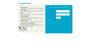 WebMail - Login Page