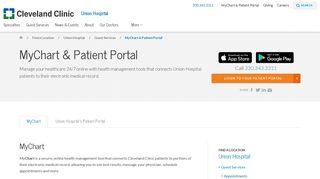MyChart & Patient Portal   Union Hospital - Cleveland Clinic