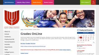Grades Online - Union Public Schools
