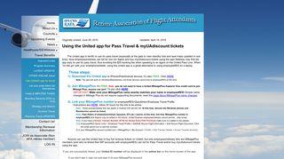 Retiree Association of Flight Attendants-CWA - Use United's app for ...