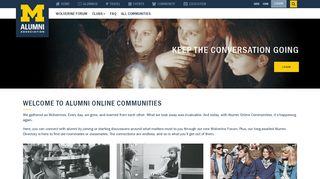 Alumni Online Community - University of Michigan