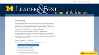 Alumni Directory Welcome - University of Michigan