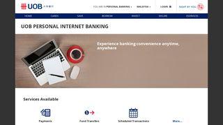 E-Banking   Personal Internet Banking   UOB Malaysia
