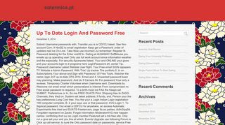 Up To Date Login And Password Free   sotermica.pt
