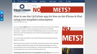 How to use the UpToDate app for free on the iPhone & iPad using ...