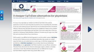 Alternatives to UpToDate - iMedicalApps