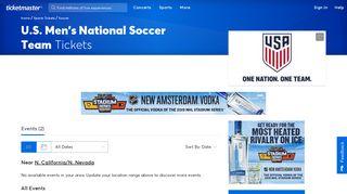 U.S. Men's National Soccer Team Tickets | Soccer Event Tickets ...