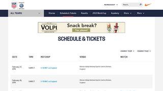 Soccer Tickets & Schedules - U.S. Soccer
