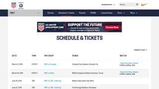 USMNT Match Schedules & Tickets - U.S. Soccer