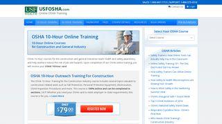 OSHA 10-Hour Online Training - USFOSHA.com