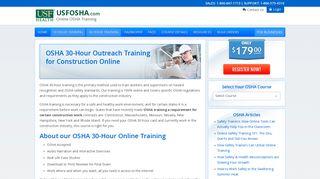 OSHA 30 Hour Construction Industry Training Online ... - USFOSHA.com