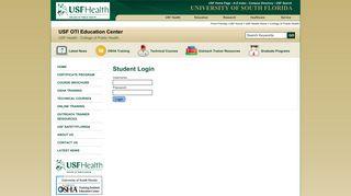 Student Login - USF OSHA Training Institute Education Center  