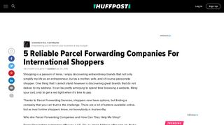 5 Reliable Parcel Forwarding Companies For International Shoppers ...