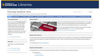 MaineStreet - Technology Assistance - Subject Guides at University of ...