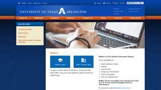MyMav – The University of Texas at Arlington - UTA