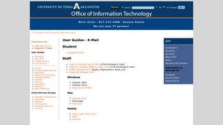 User Guides - E-Mail - UT Arlington Office of Information Technology