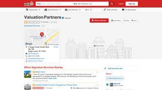 Valuation Partners - Appraisal Services - 3 Sugar Creek Center Blvd ...