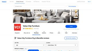 Working at Value City Furniture: 177 Reviews about Pay & Benefits ...