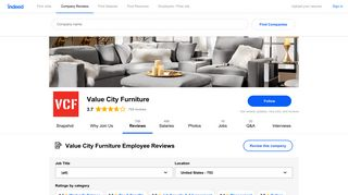 Working at Value City Furniture: 751 Reviews | Indeed.com