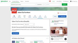 Value City Furniture Employee Benefits and Perks | Glassdoor.ca