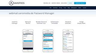 webmail.variomedia.de Password Manager SSO Single Sign ON