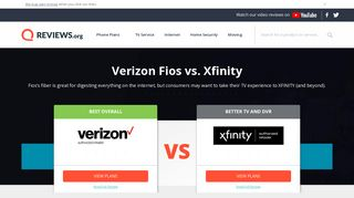 Xfinity vs. Verizon Fios - Reviews.org