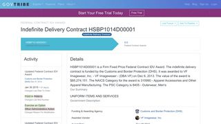 Department of Homeland Security HSBP1014D00001 To VF ...