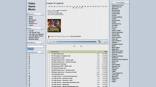 League of Legends MP3 - Download League of ... - Video Game Music