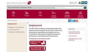 Employment - Victorian Electoral Commission