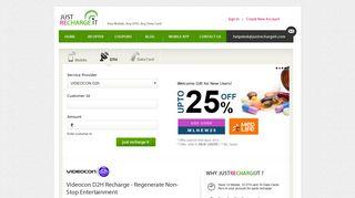 Videocon D2H Online Recharge & Top Up by Credit/Debit/Cash Card ...