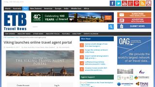 Viking launches online travel agent portal ·ETB Travel News Asia