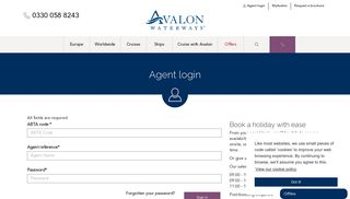 Agent login   Avalon Waterways