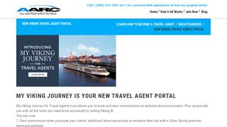 New Viking Travel Agent Portal   AARC Host Agency