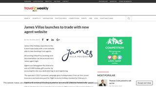 James Villas launches to trade with new agent website | Travel Weekly