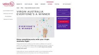 Virgin Australia everyone's a winner | Velocity Frequent Flyer