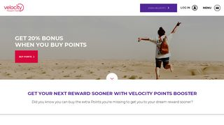 Velocity Frequent Flyer Points Booster