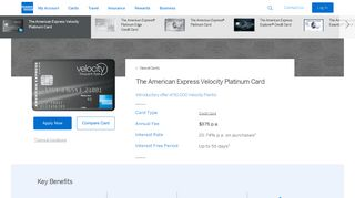 The Velocity Platinum Credit Card | AMEX Australia - American Express