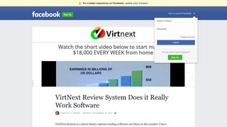 VirtNext Review System Does it Really Work Software   Facebook