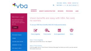 About Your Vision Benefits | VBA