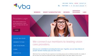 Vision Care Providers | VBA
