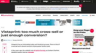 Vistaprint: too much cross-sell or just enough conversion ...