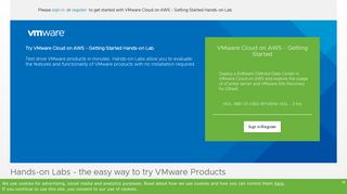 VMware Cloud on AWS - Getting Started Hands-on Lab